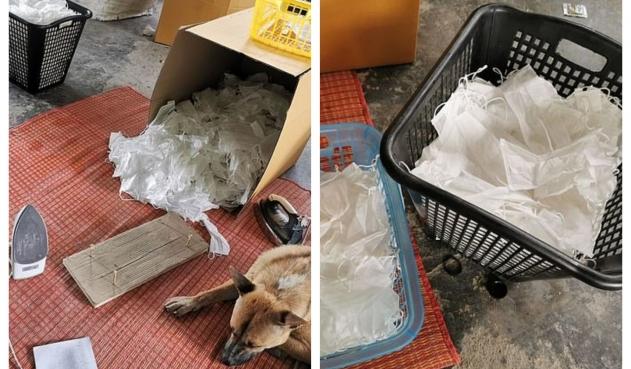 Mafia de las mascarillas: los lavan y planchan para venderlos como ...