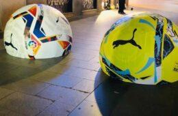 Bolardos de Madrid balones